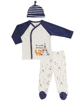 BABY OUTFIT (KIMONO-STYLE TOP, FOOTIE PANTS)