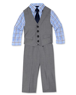 Nautica Sharkskin Dress Suit Set