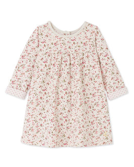 Baby girl's printed double knit dress