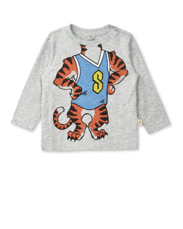 Georgie Gray Tiger Print Top