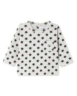 Baby boy's long-sleeved printed tee