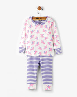 Winged Unicorns Long Sleeve Organic Cotton Baby Pajama