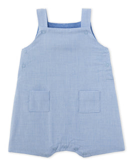 Baby boy's striped short dungarees
