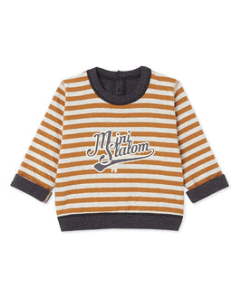 Baby boy's long-sleeved reversible tee