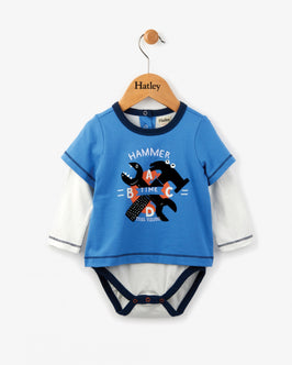 Hammer Time Long Sleeve Baby One Piece