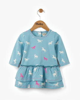 Dancing Unicorns Baby Layered Dress