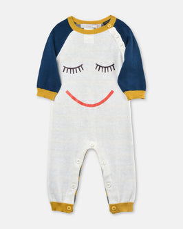 Tommy White Babygrow