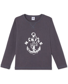 Boy's long-sleeved T-shirt with motif