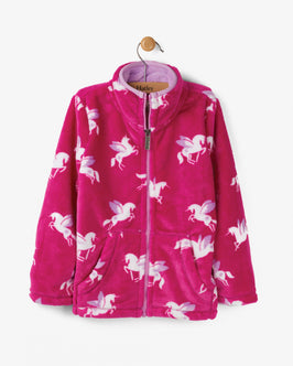 Winged Unicorns Fuzzy Fleece Jacket