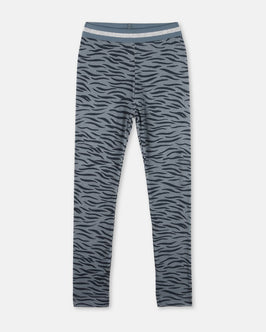 Tula Blue Tiger Print Leggings
