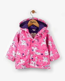 Winged Unicorns Baby Raincoat