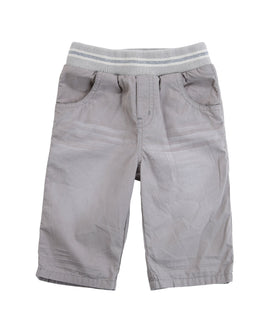 Distressed Grey Brushed Cotton Twill Shorts