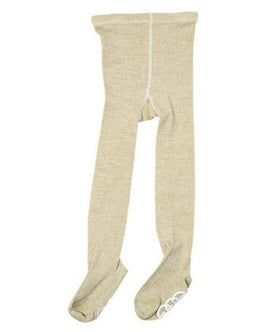 Metallic Knit Footed Tights
