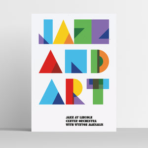 "Jazz and Art Poster (18"" x 24"") with MP3 Album Download"