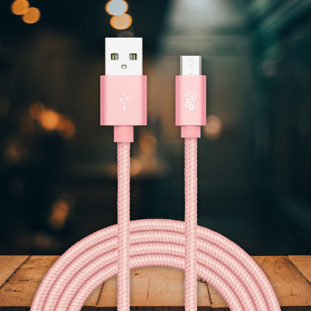 2M Micro USB braidad cable