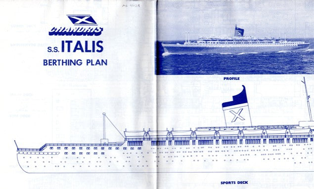 ITALIS: 1940 - Final gasp deck plan of a once-great liner