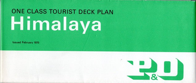 HIMALAYA: 1949 - One-class, full-ship deck plan from late 1960s/70s