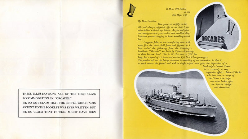 ORCADES: 1948 - Deluxe interiors brochure from 1954
