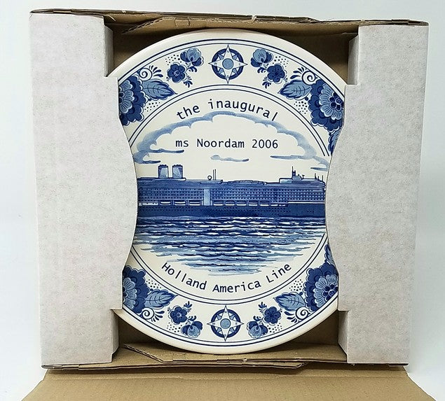 NOORDAM: 2006 - Inaugural season plate, Mint-In-Box