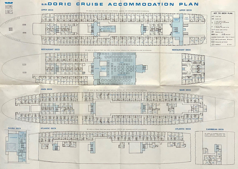 DORIC: 1964 - Fold-out tissue deck plan