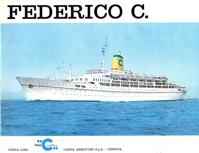 FEDERICO C.: 1958 - Deluxe deck plans/interiors brochure