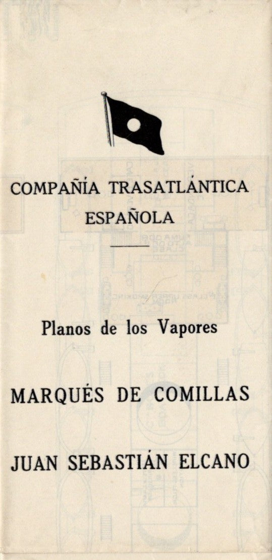MARQUES DE COMILLAS & JUAN SEBASTIAN ELCANO: 1928 - Color-coded deck plan