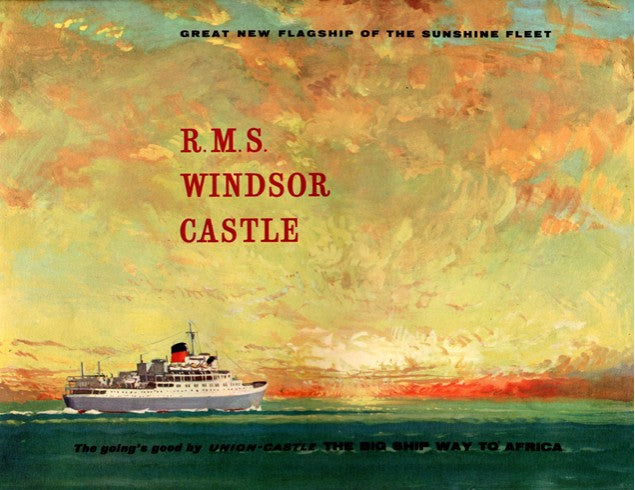 WINDSOR CASTLE: 1959 - Pre-maiden voyage brochure