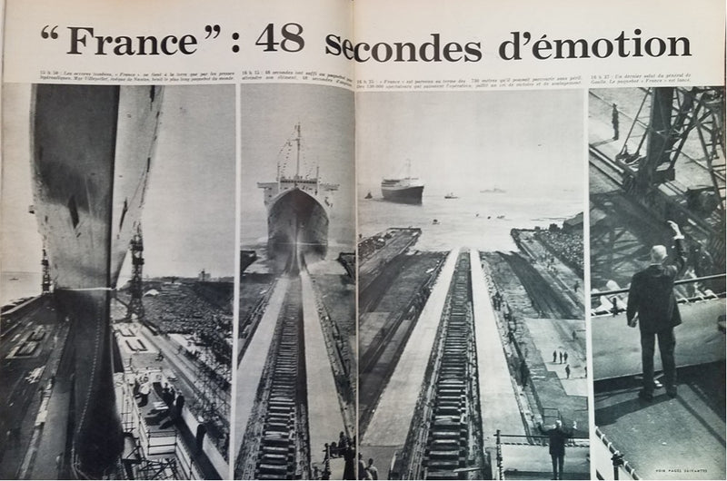 "FRANCE: 1962 - Launch cover story in ""Jours de France"""