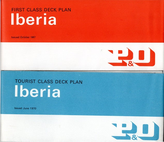 IBERIA: 1954 - First & Tourist deck plan set from late 1960s