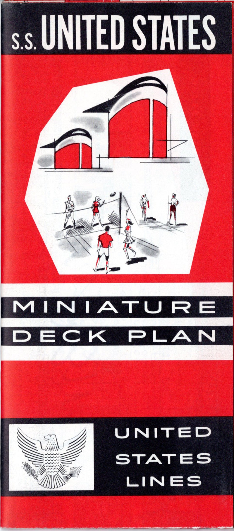 UNITED STATES: 1952 - Miniature plan with photos