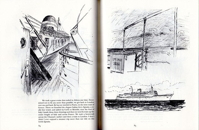 "Various Ships - ""From Sea Cliff to Barcelona"" sketches by Braynard"
