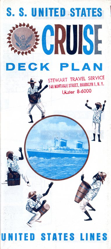 UNITED STATES: 1952 - 1960s cruise plan