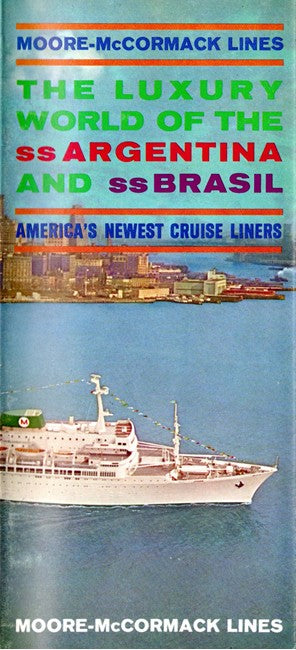 BRASIL & ARGENTINA: 1958 - Fold-out plans & interiors 1963