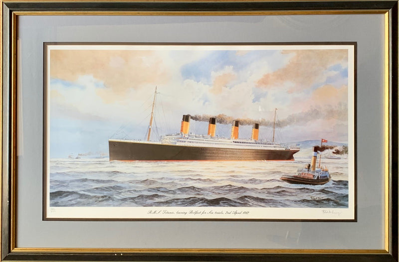 TITANIC: 1912 - Large, framed TITANIC print by Robert McGreevy