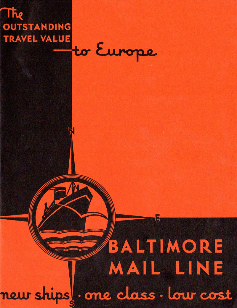 Various: pre-war - 1930 Baltimore Mail Line deluxe intro brochure