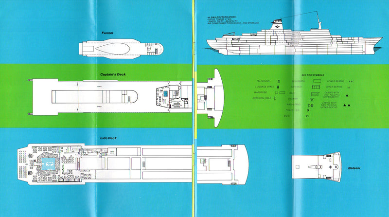 GALILEI: 1963 - Brochure w/ plans for short-lived 1979 cruises