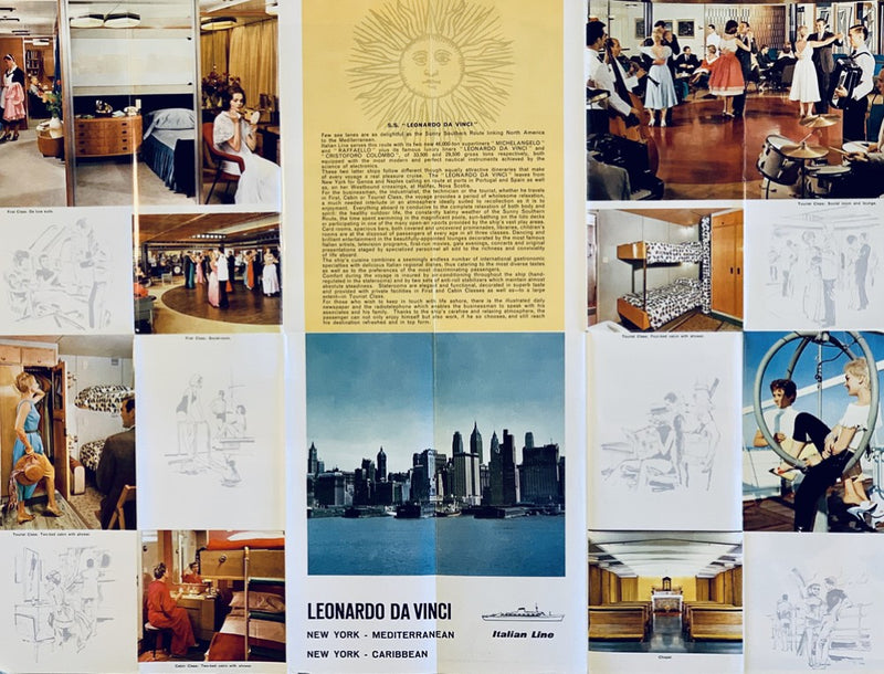 LEONARDO DA VINCI: 1960 - Fold-out interiors brochure