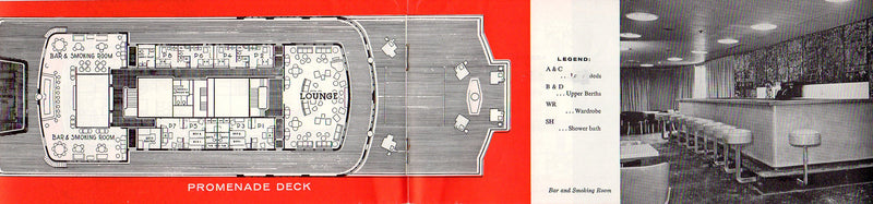 FOUR ACES: 1945 - Deck plan booklet from 1957