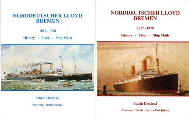 Various: pre-war - 2 volume North German Lloyd fleet history 1857-1970
