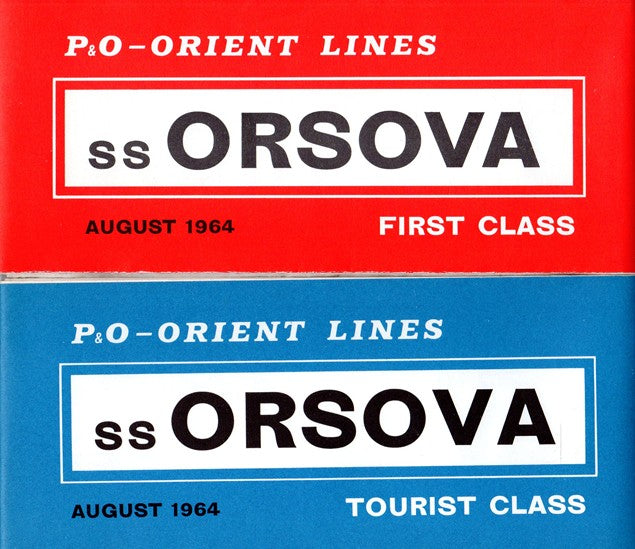 ORSOVA: 1954 - First & Tourist deck plans w/ photos