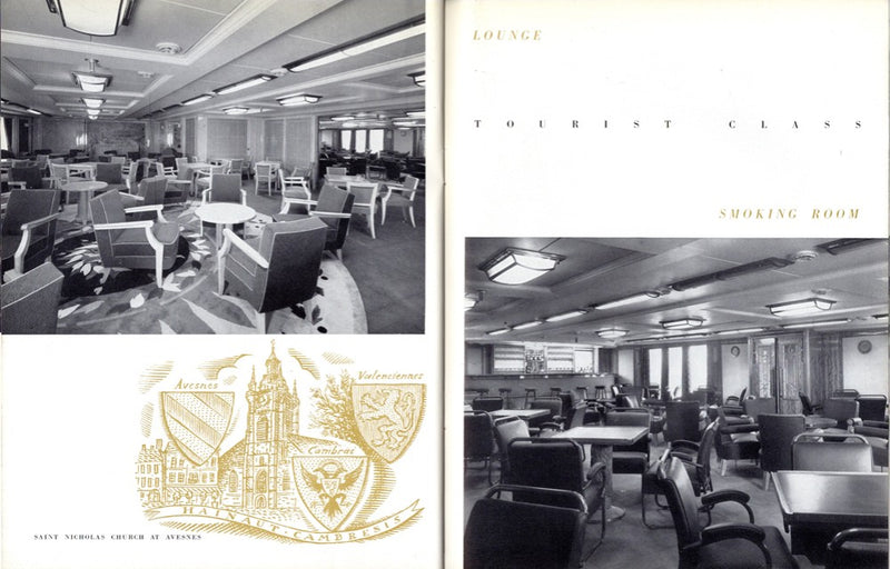 FLANDRE: 1952 - Deluxe interiors brochure w/ photos from '52