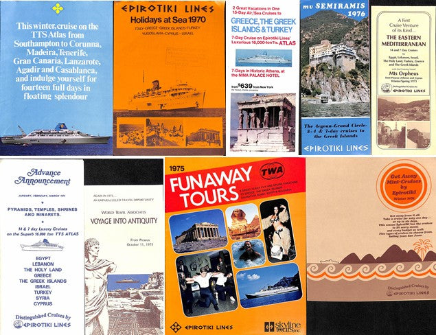 Various Ships - 9 brochures 1970s