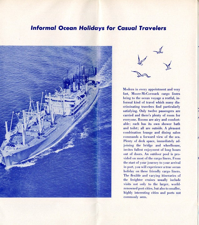Various Ships - 1959 Freighter plans & interiors