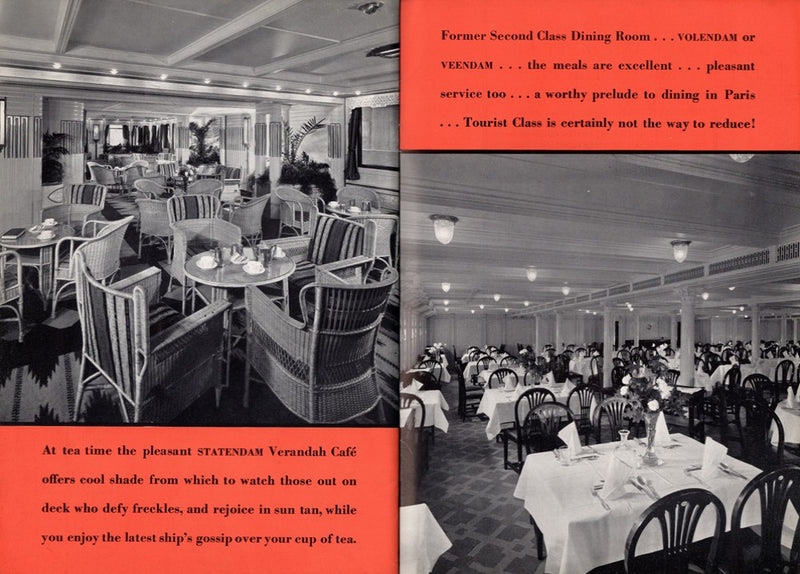 Various: pre-war - 1933 deluxe Tourist Class interiors brochure w/ snazzy graphics