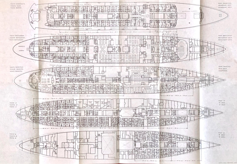 FEDERICO C: 1958 - Tissue deck plan