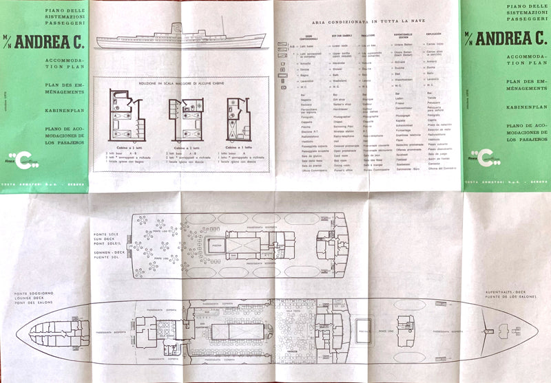 ANDREA C: 1942 - Tissue deck plan