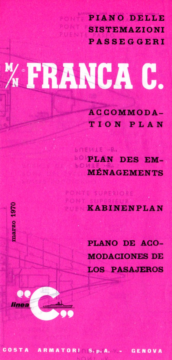 FRANCA C: 1914 - Tissue deck plan
