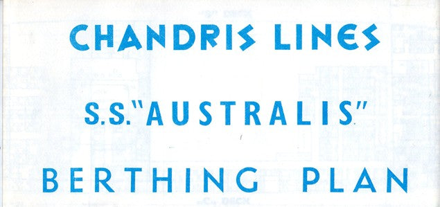 "AUSTRALIS: 1940 - ""Berthing"" plan from late 1960s"