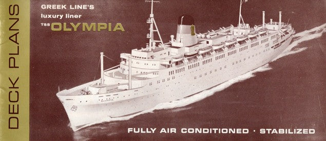 OLYMPIA: 1953 - Deck plan booklet