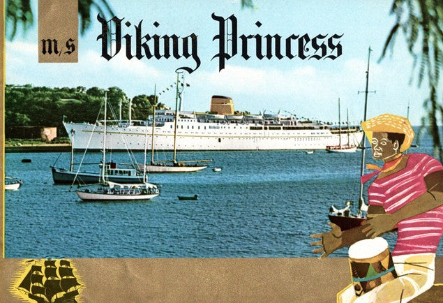 VIKING PRINCESS: 1950 - Gold over-stamped